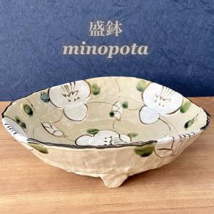 大鉢 おしゃれ 食器 格子花盛鉢 陶器 美濃焼 |minopota