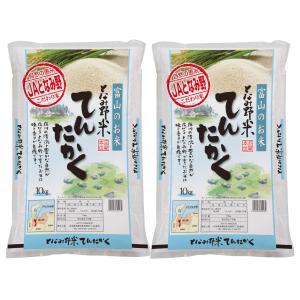 米 お米 白米 20kg  てんたかく 富山県産 となみ野米...