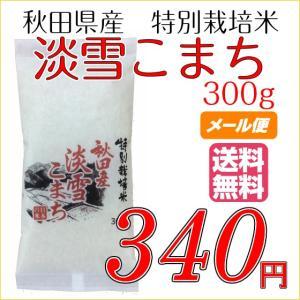 新米 お米 白米 お試し  メール便  送料無料 淡雪こまち 300g ( 2合 ) 秋田県産 特別栽培米 平成28年度産