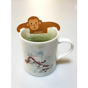緑茶 ティーバッグ「アニマルティーパーティ」お茶 日本茶 かわいい ギフト セット 動物園|minorien|08