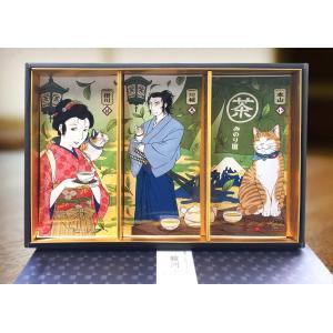 お茶 ギフトセット 日本茶 緑茶 猫茶屋 駿河 プレゼント お歳暮 お土産 かわいい ねこ茶 静岡茶 おしゃれ|minorien