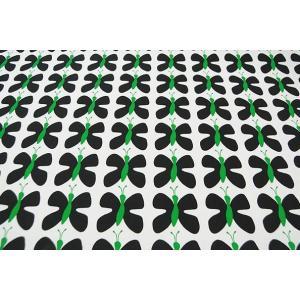 北欧ファブリック スウェーデン アルビッドソンズ ミニ蝶々 ( ブラックグリーン ) 生地はかり売り|minorityplus