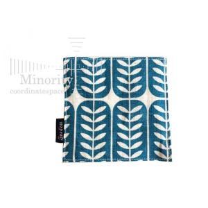 北欧 ファブリック 布製コースター  ( リーフ ブルー )|minorityplus