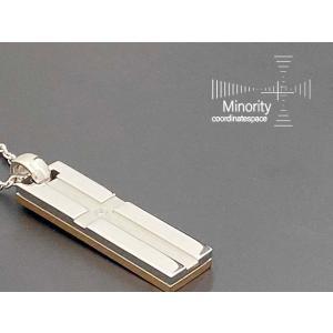≪レディース≫ サージカルステンレス 耐金属アレルギー リバースブル 英字 ネックレス 40cm(35cmアジャスター付)|minorityplus