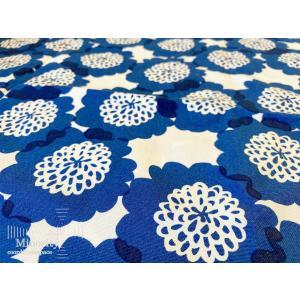 北欧デザイン フィンランド 生地 布 STUDIOHILLA スタジオヒッラ Kukkia クッキア  (ブルー) 幅160cm×高さ50cm|minorityplus