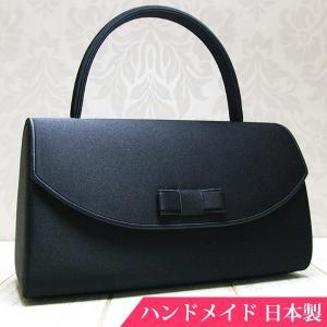 フォーマルバッグ 黒  葬儀 結婚式 入学式 卒業式 お受験 日本製 ブラックフォーマルバッグ MINOTOFU bfp01|minotofu