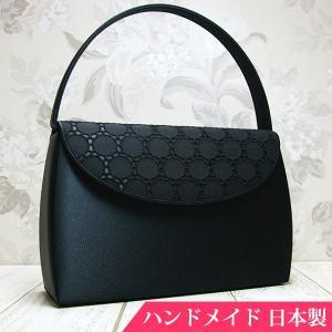 フォーマルバッグ 黒  葬儀 結婚式 入学式 卒業式 お受験 日本製 ブラックフォーマルバッグ MINOTOFU bfr01|minotofu