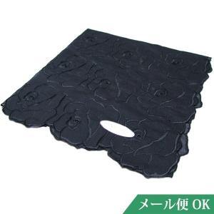 礼装用 ハンカチ 黒 コットン フォーマル お受験 入学式 卒業式 葬儀 お通夜 法事 kh02|minotofu