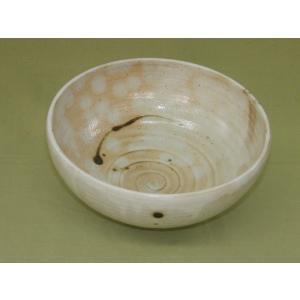 器之助・KINOSUKE 美濃焼 粉引織部散らし丸鉢|minoyakisquare