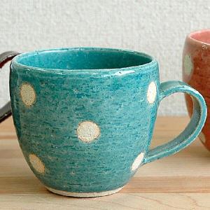 dot dot store japan 美濃焼 水玉ビスクマグ ブルー|minoyakisquare