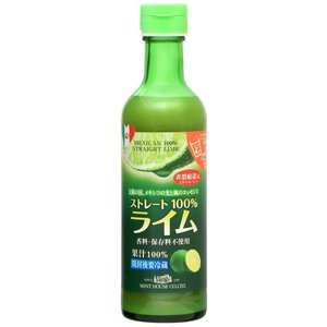 ミントハウス メキシコ産ライム果汁290m ストレート果汁 非・濃縮還元 香料・保存料不使用|minthouse