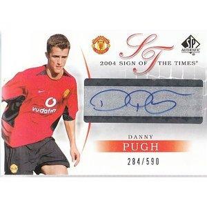 04 UD MANCHESTER UNITED SP AUTHENTIC DANNY PUGH 直筆サインカード 590枚限定|mintkashii