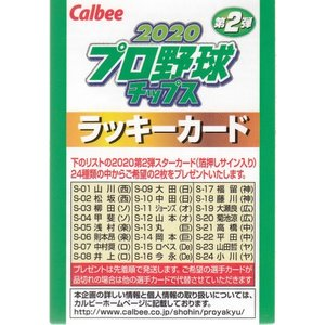 20カルビープロ野球チップス第2弾 ラッキーカード|mintkashii