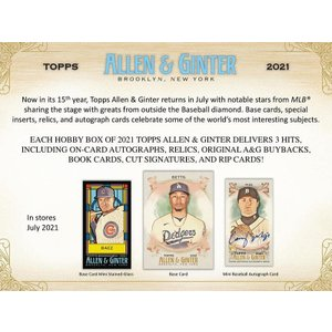MLBボックス 2021 TOPPS ALLEN & GINTER|mintkashii