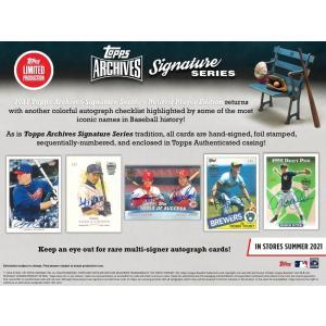 MLBボックス 2021 TOPPS ARCHIVES SIGNATURE RETIRED|mintkashii