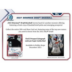 MLBボックス 2021 BOWMAN DRAFT SUPER JUMBO|mintkashii
