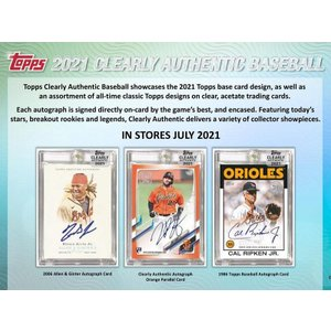 MLBボックス 2021 TOPPS CLEARLY AUTHENTIC|mintkashii
