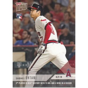 18 TOPPS NOW 大谷翔平 8.27 MLB史上3人目の快挙、今期15本4勝を達成 英語版|mintkashii