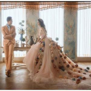 ウェディングドレス二次会ウエディングドレスカラードレスロング二次会ドレスパーティードレスロングドレス...