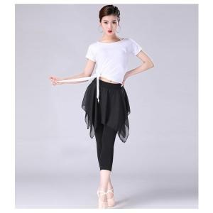 ラテンダンス衣装新作レディースダンス無地レッスン着短袖練習着メール便