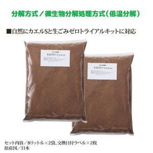 交換用チップ材 エコパワーチップ 8W (8リットル入×2袋) 家庭用 ごみ処理機 省エネ 電気不要 堆肥|mio-s|02
