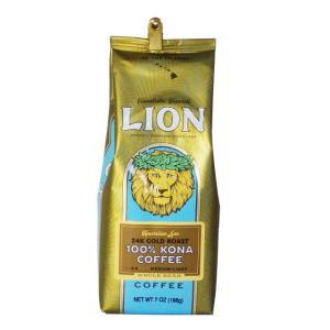 【商品情報】 ライオン24Kゴールドロースト 100%コナコーヒー 7Oz(198g)WB(挽いてい...