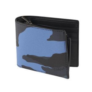 3929a9db7e55 コーチ メンズ 折りたたみ財布 COACH f32438 ブルー×ブラック系|mippi-na-store ...