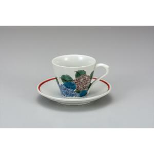 カップ 九谷焼 カップ&ソーサー あじさい コーヒーカップ 紅茶 来客用 かわいい コップ マグ コーヒー 結婚式引出物 陶器 和食器 おしゃれ 人気|miracle-house