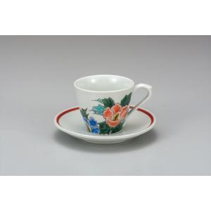 カップ 九谷焼 カップ&ソーサー 芙蓉 コーヒーカップ 紅茶 来客用 かわいい コップ マグ コーヒー 結婚式引出物 陶器 和食器 おしゃれ 人気|miracle-house
