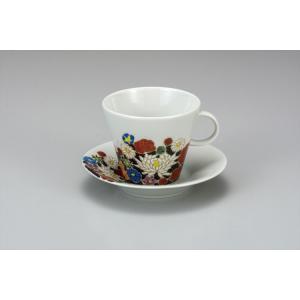 カップ 九谷焼 カップ&ソーサー 花詰 コーヒーカップ 紅茶 来客用 かわいい コップ マグ コーヒー 結婚式引出物 陶器 和食器 おしゃれ 人気|miracle-house
