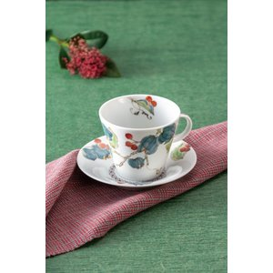 カップ 九谷焼 カップ&ソーサー 山帰来 コーヒーカップ 紅茶 来客用 かわいい コップ マグ コーヒー 結婚式引出物 陶器 和食器 おしゃれ 人気|miracle-house