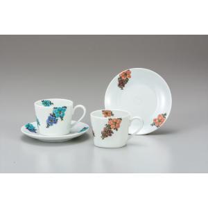 カップ 九谷焼 ペアコーヒー 花舞 コーヒーカップ 紅茶 来客用 かわいい コップ マグ コーヒー 結婚式引出物 陶器 和食器 おしゃれ 人気 ギフト|miracle-house
