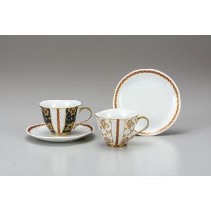 カップ 九谷焼 ペアコーヒー 鉄仙文 コーヒーカップ 紅茶 来客用 かわいい コップ マグ コーヒー 結婚式引出物 陶器 和食器 おしゃれ 人気|miracle-house