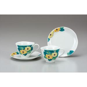 カップ 九谷焼 ペアコーヒー 花水木 コーヒーカップ 紅茶 来客用 かわいい コップ マグ コーヒー 結婚式引出物 陶器 和食器 おしゃれ 人気|miracle-house