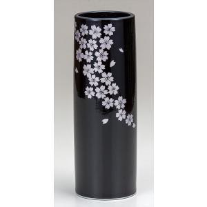 花器九谷焼 8号寸胴花瓶 釉彩桜 かびん 生け花 おしゃれ かわいい 人気 フラワーベース 父の日 贈り物 新築祝い 結婚祝い 内祝い お祝い 米寿|miracle-house