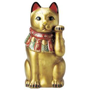 瀬戸焼 古色大正猫(特大)金(金運) 約52cm 招き猫 置物 開運 猫 グッズ 縁起物 商売 繁盛 猫の日 玄関  おすすめ プレゼント  まねきねこ おしゃれ miracle-house