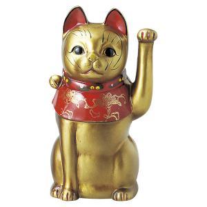 瀬戸焼 古色大正猫中(金) 約26cm 招き猫 置物 開運 猫 グッズ 縁起物 商売 繁盛 猫の日 玄関  おすすめ プレゼント  まねきねこ おしゃれ miracle-house