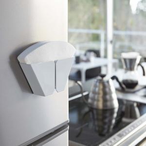 マグネットコーヒーペーパーフィルターホルダー タワー ホワイト キッチン用品 収納 2977 YZ mirage-style