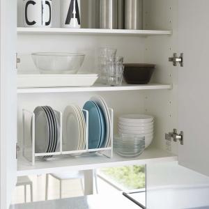 ディッシュラック タワー ワイド 2色 Lサイズ キッチン用品 収納 2964(W) 2965(B) YZ mirage-style