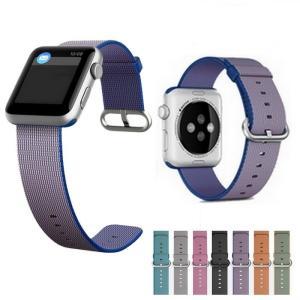 Apple watch 6 SE バンド ウーブンナイロン Apple Watch series5 ...
