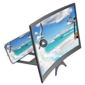 スマホスタンド 携帯電話 HDプロジェクション ブラケット 12インチ HD 曲面スクリーン アンプ...