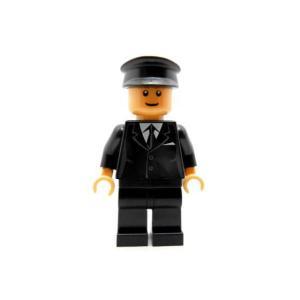 レゴ シティ バス運転手(黒スーツ)スマイル - ミニフィグ (3m4)【メール便可】|miraiya05