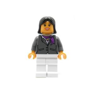 レゴ シティ 客室乗務員(濃青灰スーツ)黒髪 - ミニフィグ (3m5)【メール便可】|miraiya05