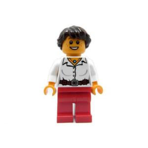 レゴ クリエイター 女の子(白シャツ/茶ベルト/赤ズボン) - ミニフィグ (3p9)【メール便可】|miraiya05
