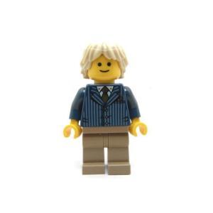 レゴ クリエイター ビジネスマン(紺ジャケット/金ネクタイ) - ミニフィグ (3r3)【メール便可】|miraiya05