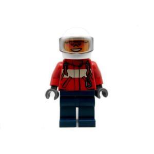 レゴ シティ 消防士(オレンジサングラス/赤ジャケット/紺ズボン)パイロット - ミニフィグ (3r5)【メール便可】|miraiya05