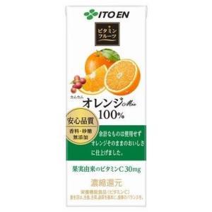 <title>伊藤園 ビタミンフルーツ オレンジmix 100% 『1年保証』 紙パック 200ml×24本</title>