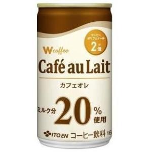 <title>春の新作 伊藤園 W coffee カフェオレ 缶 165g×30本</title>