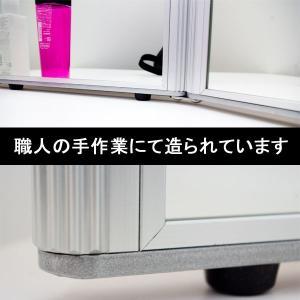 卓上ミラー 鏡 卓上 三面鏡 大型卓上ミラー メイクアップミラー プロ用ミラー|mirror-eames|03