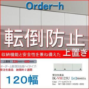 パモウナ 食器棚 耐震 パモウナ食器棚 上置き ハイタイプ 120幅 VI-VH120U mirror-eames
